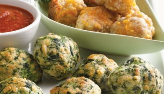 Original Recipes Sausage Cheese Balls and Spinach Cheese Balls